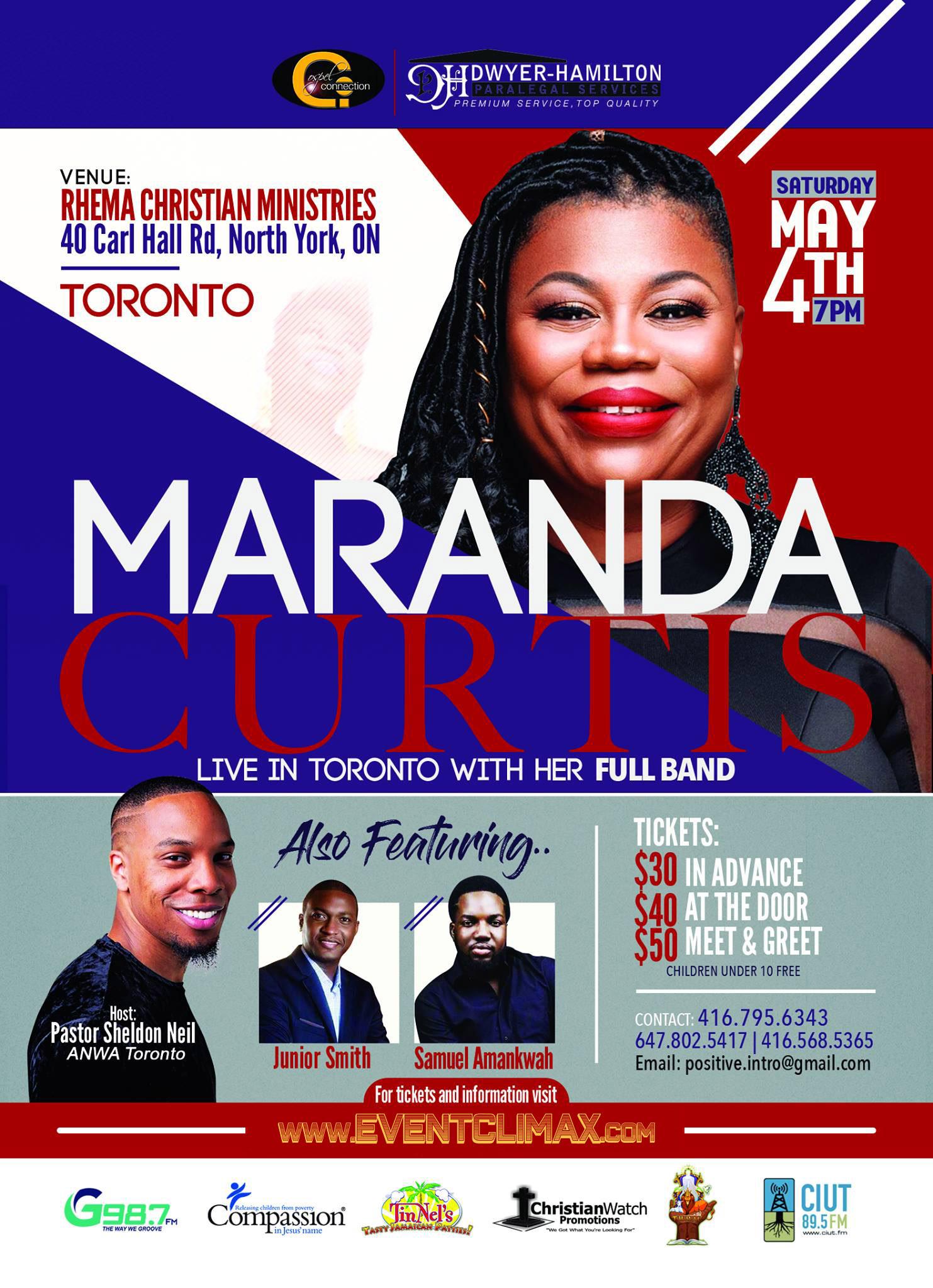 MARANDA CURTIS LIVE